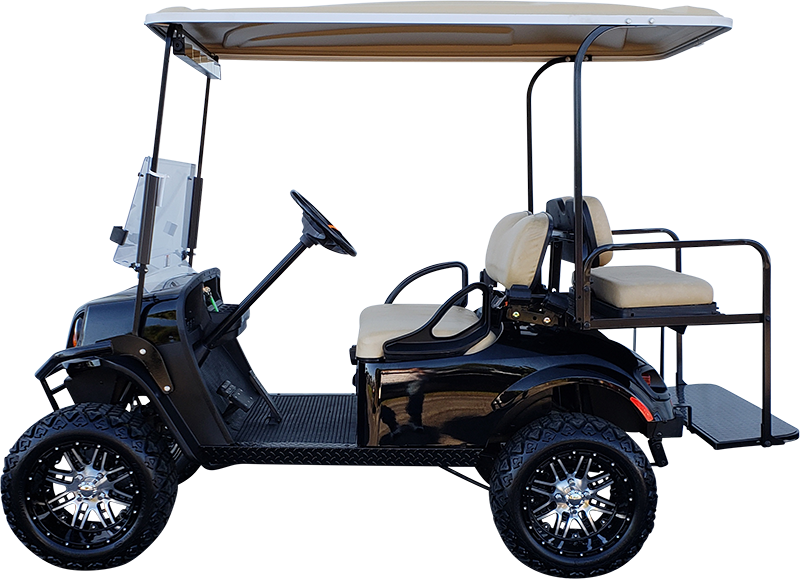 2018 EZGO TXT Black Lifted Electric Certified Pre-Owned (2015)