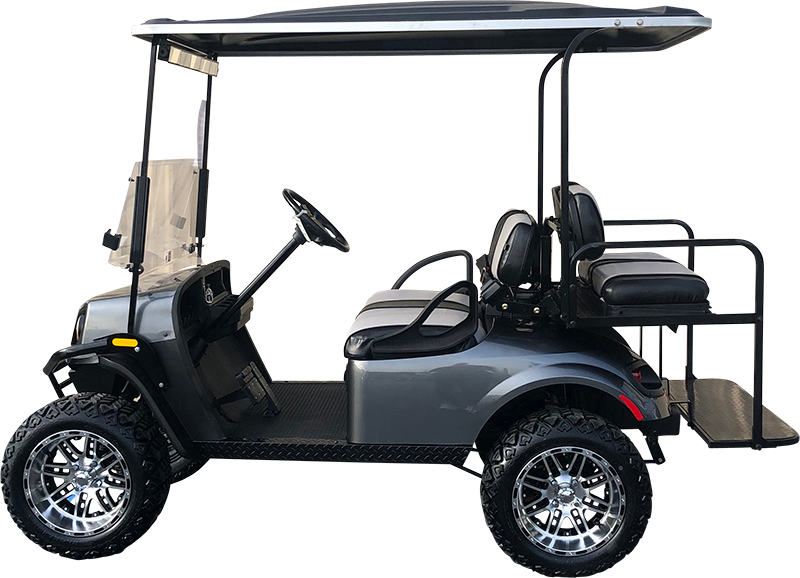 2018 EZGO TXT Metallic Charcoal Lifted Electric Certified Pre-Owned (2015)
