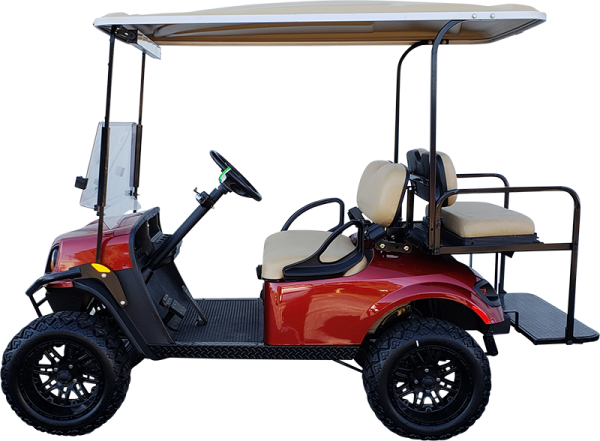 2018 EZGO TXT Inferno Red Lifted Electric Certified Pre-Owned (2015)